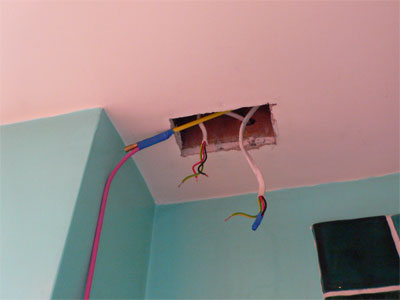 Hole in ceiling for THS etc