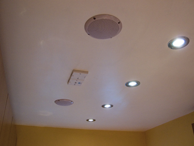 View of kitchen ceiling