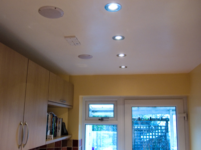 Another view of kitchen ceiling